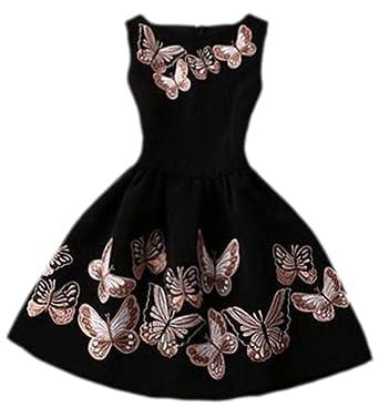 Kleid schwarz mit schmetterlingen
