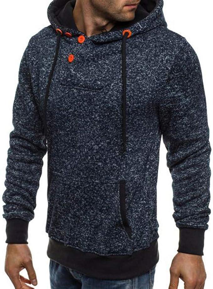Uomo Inverno con Cappuccio Pullover Con Cappuccio Maglione Hooded Felpa manica lunga Outwear Top