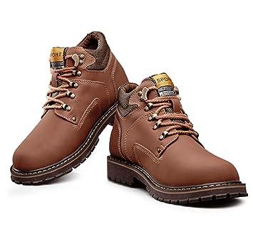 LEFT&RIGHT Zapatos De Senderismo para Hombres Botas, Botas Altas para Exteriores Botas Altas Antideslizantes Zapatos con Cordones para Deportes, ...