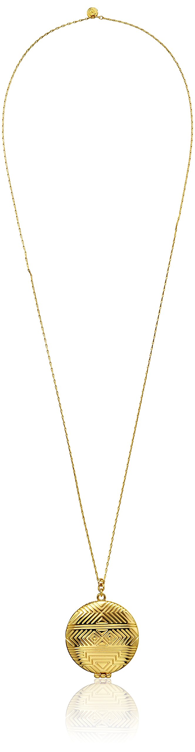 House of Harlow 1960 14k Yellow Gold-Plated Medallion Locket Necklace, 28''