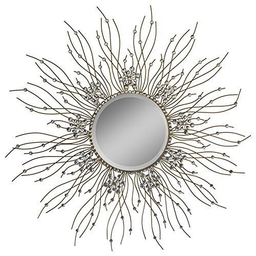 Cheap Beautiful Large Mirror For Bathroom,Livingroom Wall Mirror,Kitchen Wall Mirror Decorative in Sunburst Shape (Sunburst) MD104