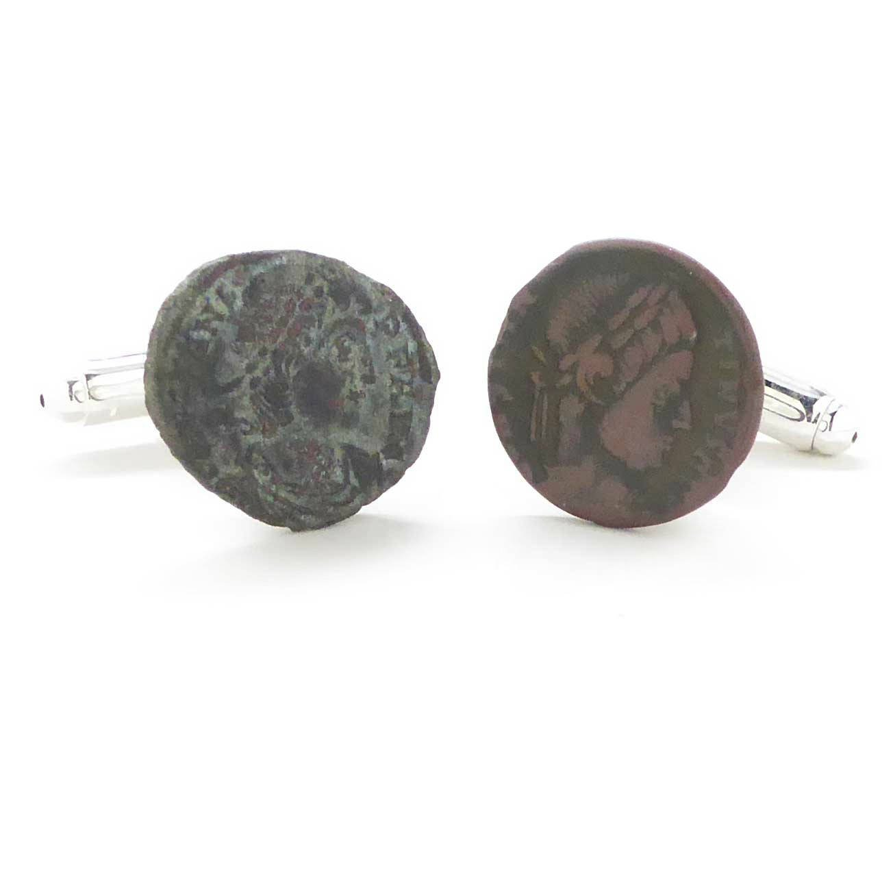 Roman Coin Cufflinks Cuff Links Rome Italy Empire Roma Emperor Authentic Ancient Caesar Legion Army Soldier Historical by Marcos Villa