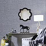 HaokHome H013 Faux Grasscloth Peel Stick Wallpaper 23.6in x 19.7ft Lt.Grey Linen Self Adhesive Contact Paper Wall Decoration