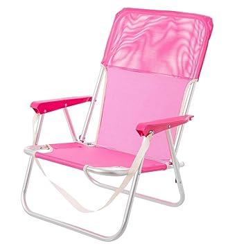 Silla Plegable para Playa Pop de Aluminio Rosa Garden ...