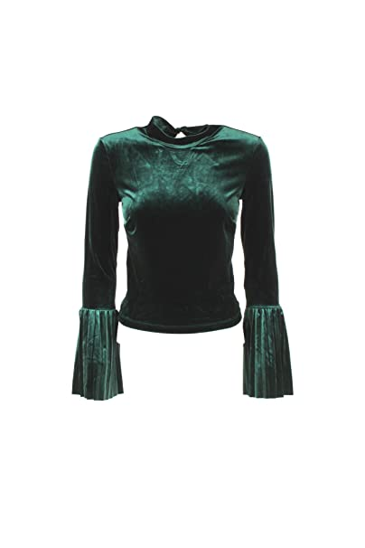 GUESS Top Donna XS Verde W83p56 K7gm0 Autunno Inverno 2018/19