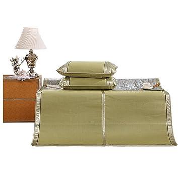 Cool colchones Esteras de colchón Frescas 3 Piezas 1,5 m Alfombra de Cama Plegable de Verano Ropa de Cama Textil Doble para Estudiante (Tamaño : 180 ...