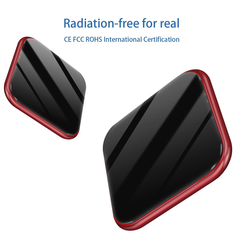 Caricatore senza fili, Caricabatterie a induzione Ricarica rapida ultra-sottile per iPhone X, iPhone 8/8 Plus, 7,5 w per Samsung S / S9 + / S8 / S8 + / S7 / S6 / Nota 8, Stazione di ricarica induttiva Caricabatterie Qi Pad wireless (adattat