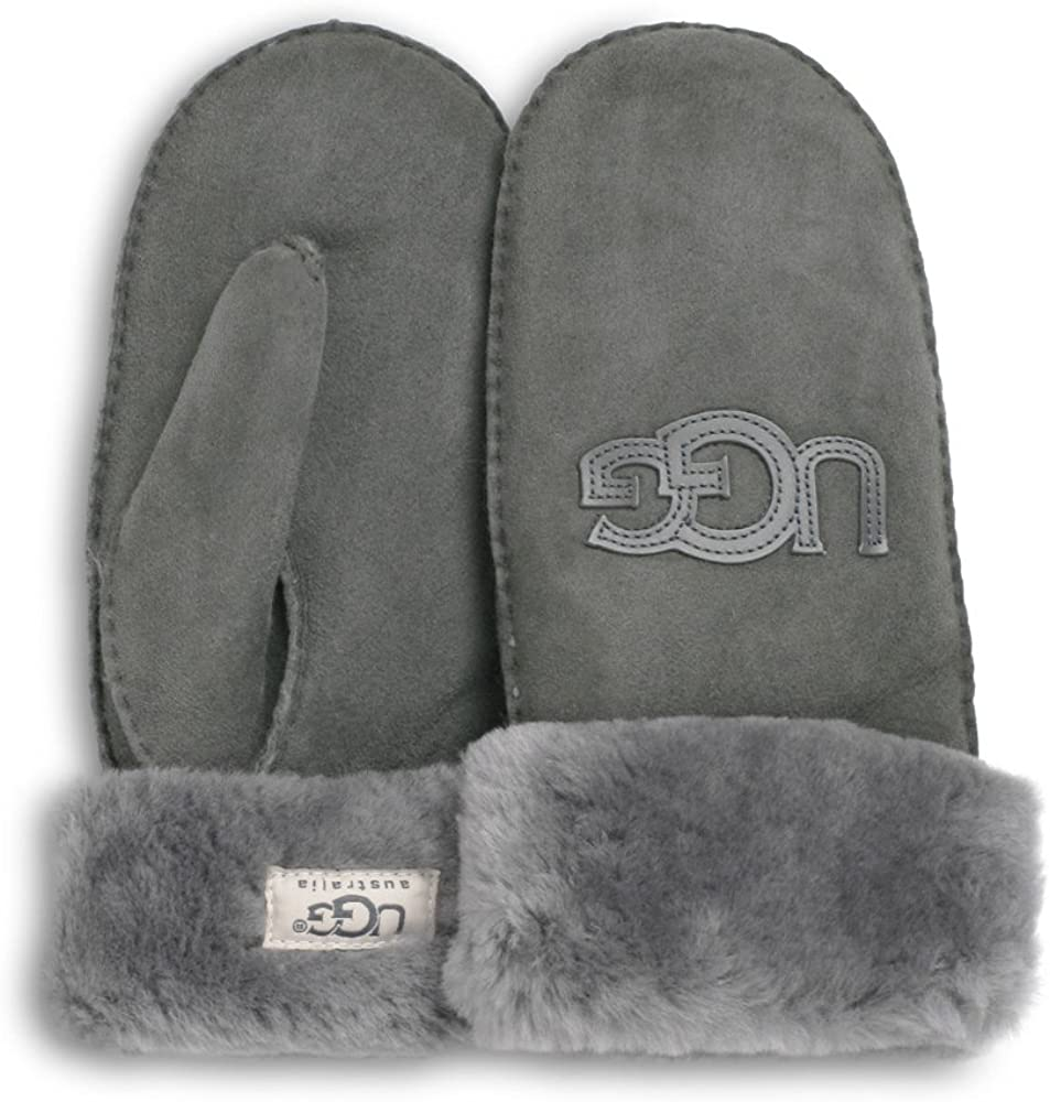 22db20588f6 UGG Logo Mitten (L/XL, Grey) at Amazon Women's Clothing store: Cold ...