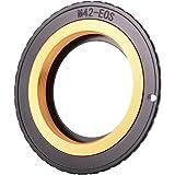 XCSOURCE M42→Canon EOSカメラ変換 レンズアダプター EMF AF確認チップ付き アパーチャ調整可能 DC743