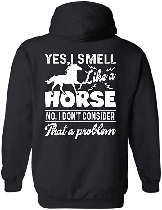 YES actually world DOES revolve around my HORSES Funny Horse Adult Hoody S 2XL
