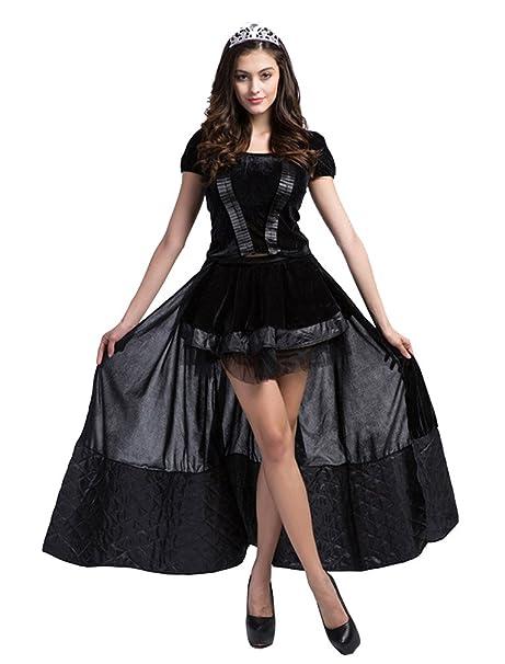 Donna Strega Principessa Vestito Cosplay Halloween Costume Da Carnevale  Nero S  Amazon.it  Abbigliamento 67b5ac31cb76