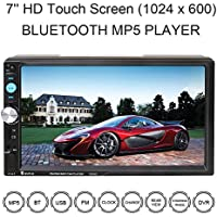 Double Din Universal Car Stereo Audio MP5 Player, 7 HD Bluetooth Car Audio Receiver / FM Radio, with SD / MMC Card Slot and USB Port (7023D, without Rear View Camera)