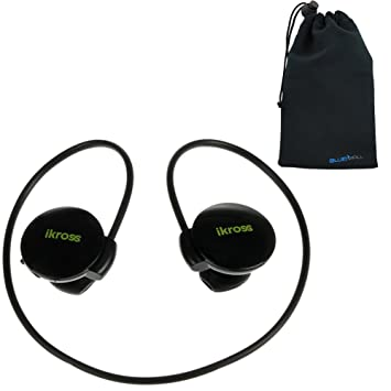 iKross Sport Bluetooth 3,0 auriculares estéreo inalámbricos w/Mic + auriculares con tapa