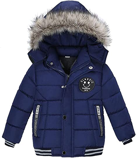 2018 New Baby Boys Winter Thick Warm Coat Kids Fur Hooded Casual Jacket Kids Outerwear Down Cotton Padded School Winter Coats Warmest Coats For Kids