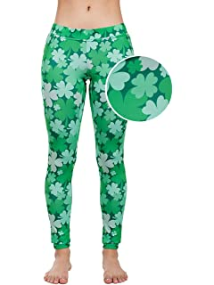 da6f35211 Women's Green St. Patrick's Day Leggings - St. Paddy's Day Tights Pants for  Ladies