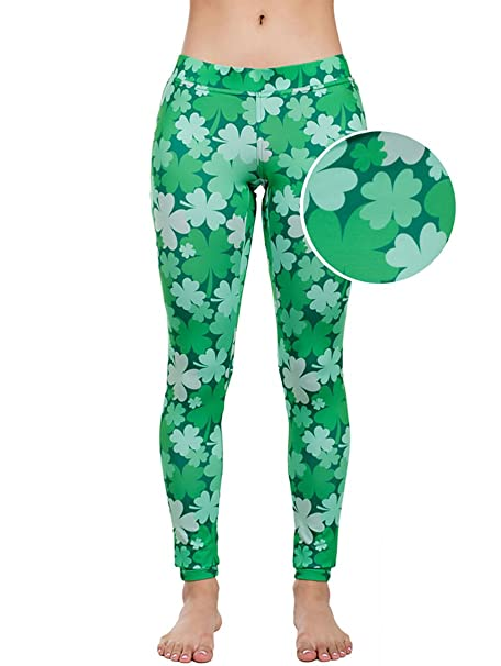47f9d1f1de2661 Women's Green St. Patrick's Day Leggings - St. Paddy's Day Tights Pants for  Ladies