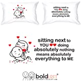 BoldLoft You Mean Everything to Me Couple Pillowcases for Couple for Boyfriend Girlfriend|His and Hers Couples Gifts Husband Gifts Wife Gifts
