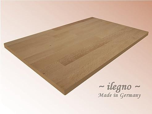 ilegno ~ Tischplatte Buche massiv Holz, 200 x 100 cm, 40 mm stark ...