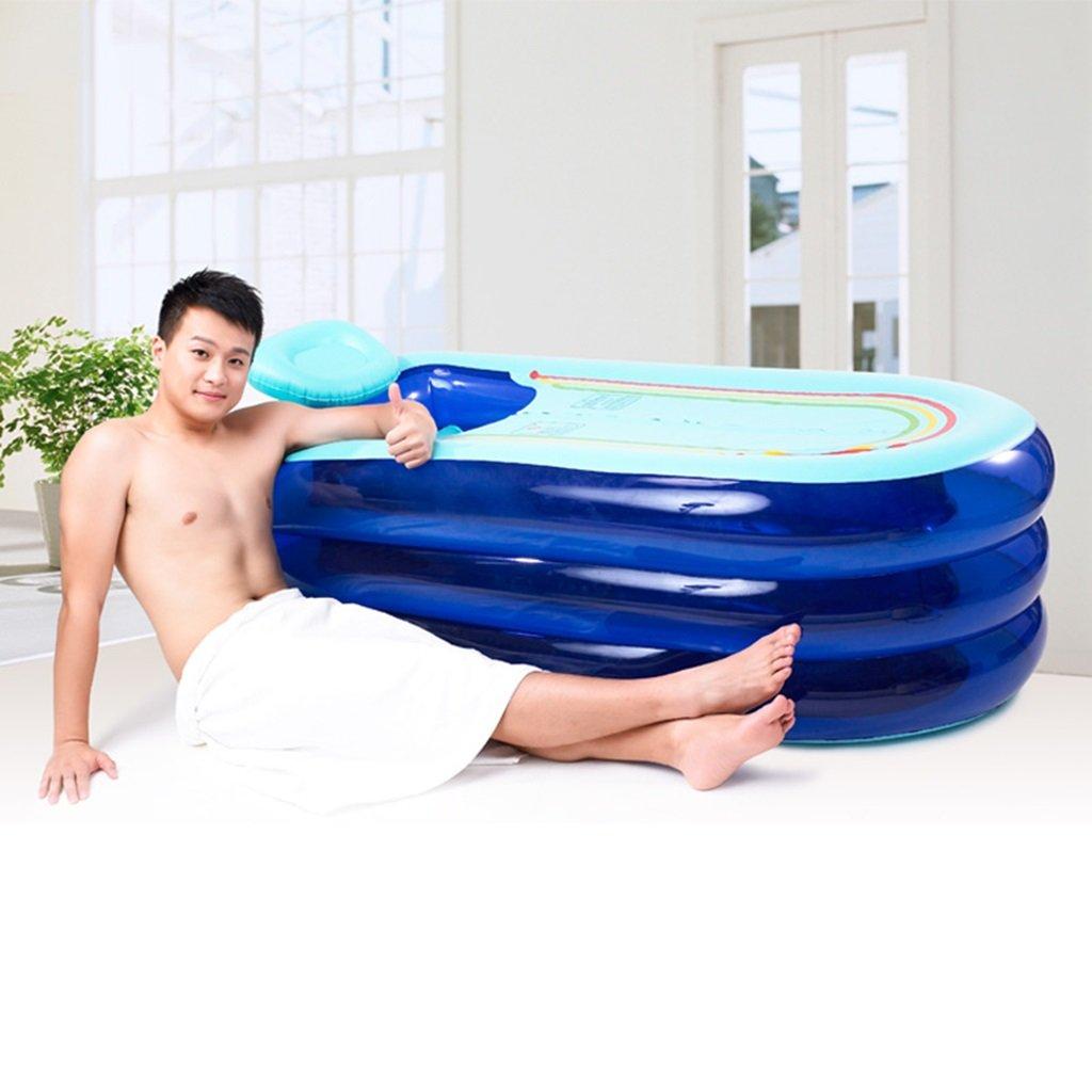 Sunhai& Tubble Inflatable Bathtub Adult Size Portable Home Spa, Baby Early Education Swimming Pool ,Comfortable Bath, Quality Tub ( Color : Blue ) by Sunhai& (Image #3)