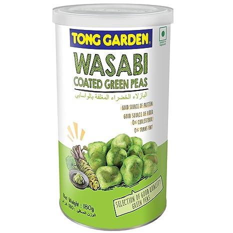 Tong Garden Wasabi Coated Greenpeas Tin, 180g: Amazon.in: Grocery ...
