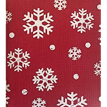 Amazon Com Lintex Red Snowflake Swirl Peva Non Toxic Non