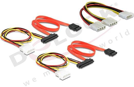 Delock Y- Kabel Stromversorgung > 2x 4pin Molex Verteiler + 2 SATA ...