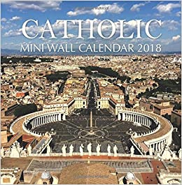 catholic mini wall calendar 2018 16 month calendar paul jenson 9781978321502 amazoncom books