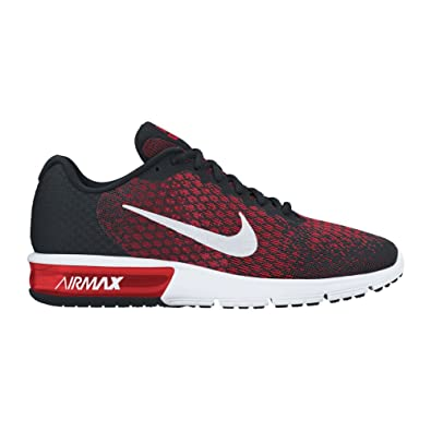 Nike Air Max Sequent 2 Black White Team Red University Red Men s Running  Shoes  Buy Online at Low Prices in India - Amazon.in 4620ebbc164c