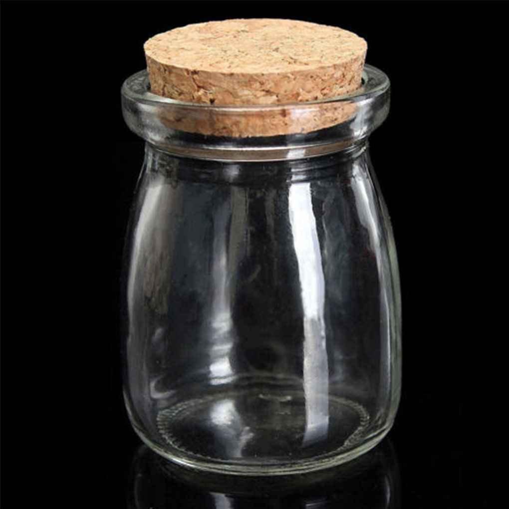 FBlue 100ML Pequeña Visualización Clara Frascos de Vidrio de la Botella del Deseo envase Vial con Tapón de Corcho: Amazon.es: Hogar