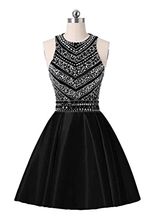 Black and White Short Formal Dresses for Teenagers