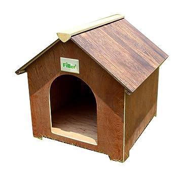 Casetas para perros Casa De Mascotas Casa De Perros Jaula De Gatos Hogar De Madera Maciza ...