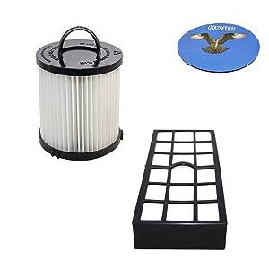 HQRP Filter Kit for Eureka Pet Pal 3271AVZ 3271BLU 3271BZ / Pet Lover 3276AZ 3276AVZ Upright Vacuum Cleaner, HF-7 DCF-21 Replacement