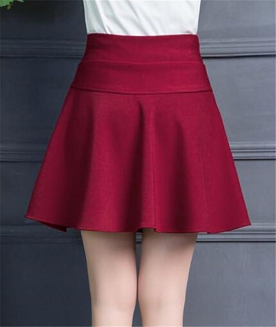 96ce2a1f8b95 BESTHOO Mini Jupe Parapluie Femme Jupe Taille Haute Jupe Avec Poches Jupe  Taille Elastique Jupe Couleur Unie Jupe  Amazon.fr  Vêtements et accessoires