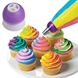 Demarkt Icing Piping Bag Nozzle Converter Tri-color Cream Coupler Cake Decorating Tools