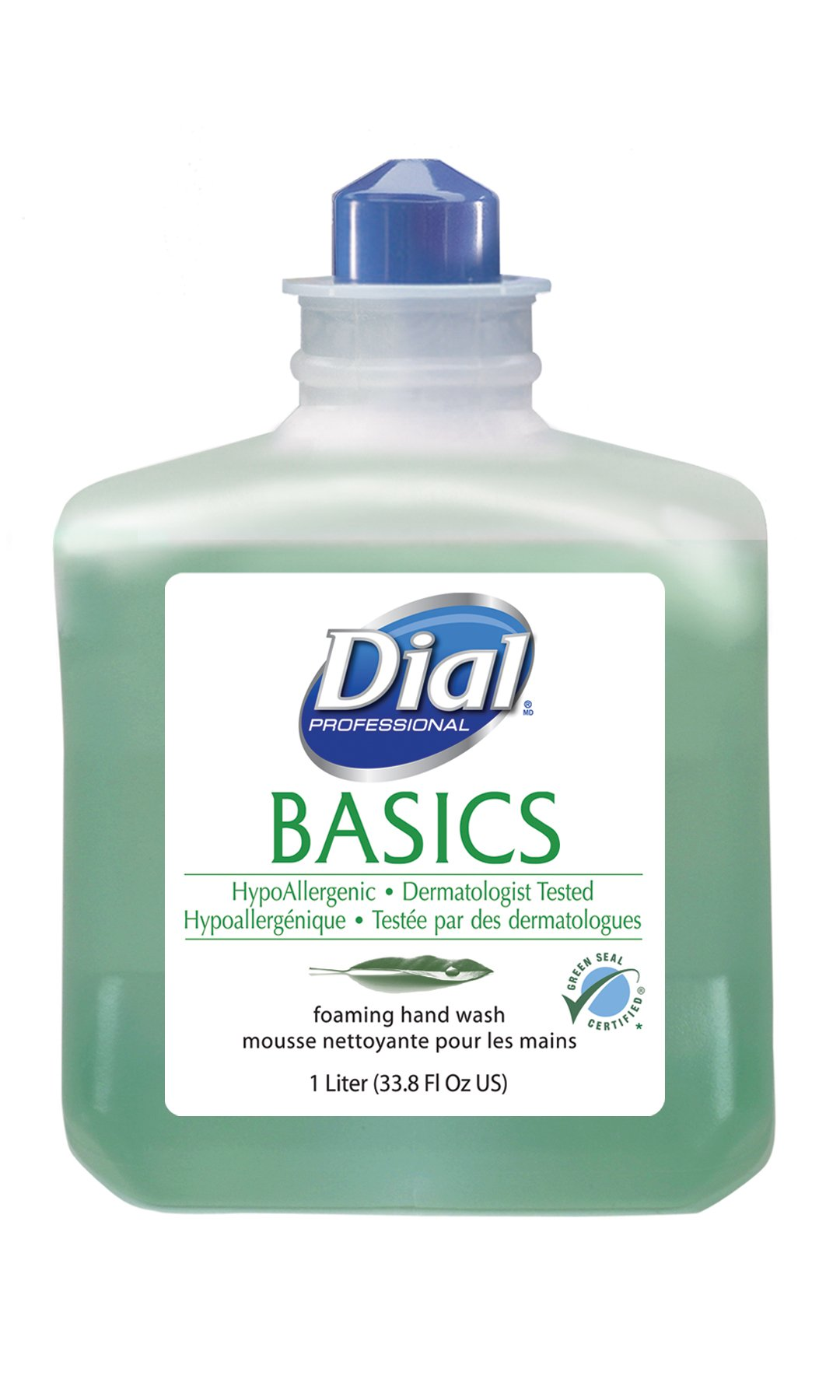 Dial 1324680 Basics Hypoallergenic Foaming Hand Lotion Soap, 1 Liter Refill (Pack of 6) by Dial (Image #1)