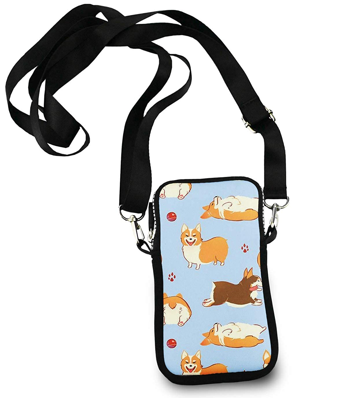 Roomy Pockets Series funny corgi dogs Small Crossbody Bag Cell Phone Purse Wallet For Women Girls