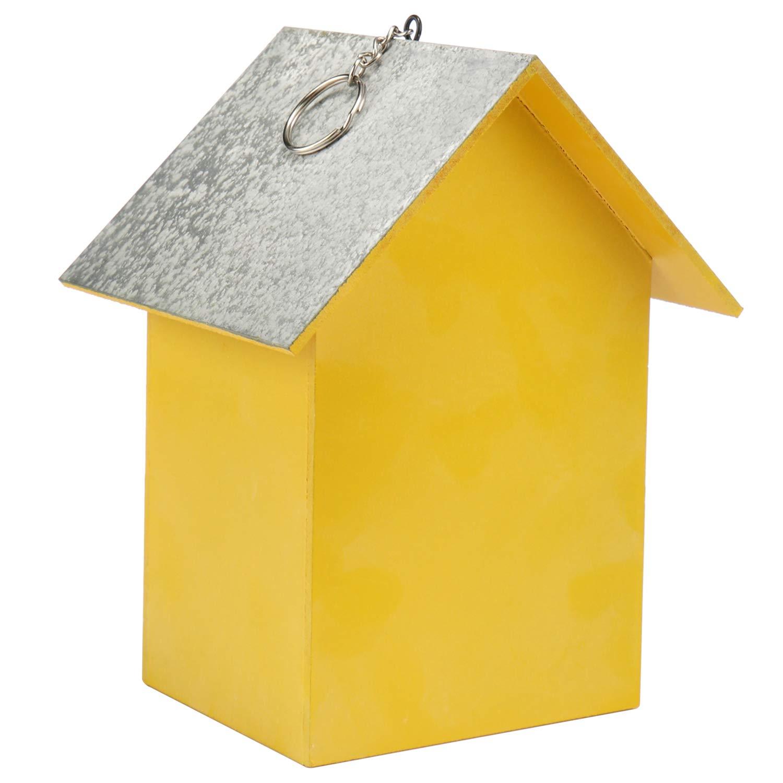 com-four/® nichoir en Bois nichoir d/écoratif /à Suspendre 01 pi/èces - 12x16x23cm Jaune Nichoir pour Petits Oiseaux nichoir pour Oiseaux Sauvages