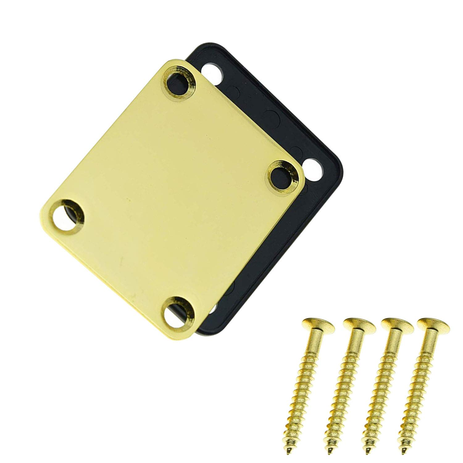 1 Set Electric Guitar Neck Plate with Screws for Strat Tele Guitar Precision,Jazz Bass Replacement 61bqpUmJH0L