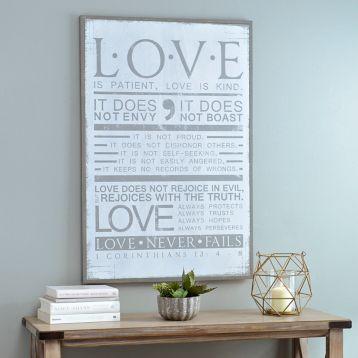 Love is Patient Wooden Plaque | Kirklands