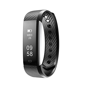 Kobwa Smart Wristband Fitness Activity Tracker Heart Rate Pedometer  Distance Calorie Alarm Mode Wireless Bluetooth 4 0 Touch Screen Call  Message