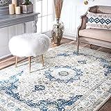 NuLOOM Blue Verona Rug Area Rug, 2u0027 X 3u0027