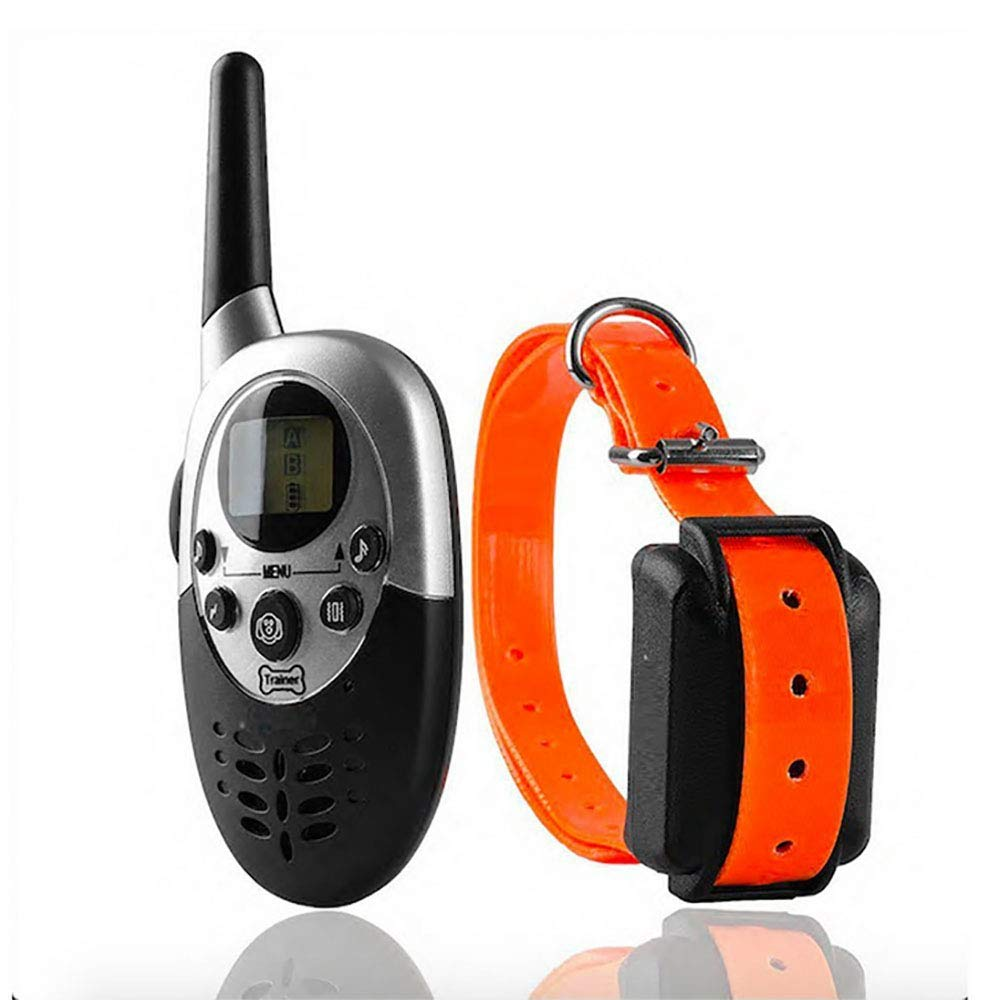 Dog Training Collar  New Upgraded Shock Collar  Waterproof Rechargeable Anti Barking Collar with 4 Training Modes and Remote Trainer 1000 Yards