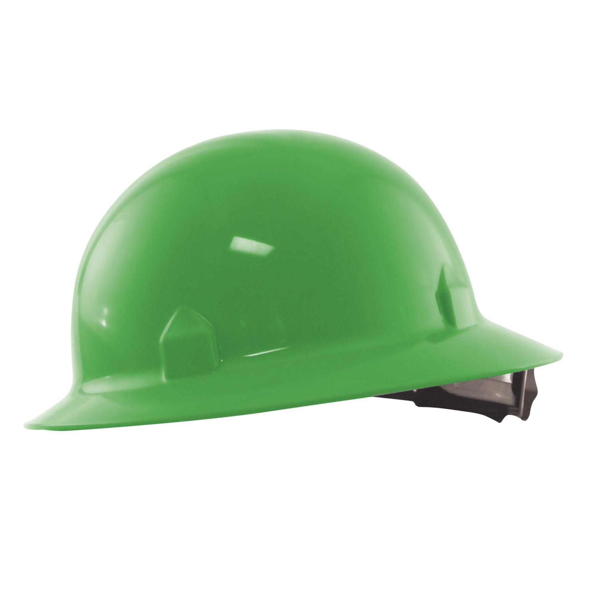 Jackson Safety Blockhead Full Brim Hard Hat (20718), 360-Degree Brim, 8-Point Ratchet Suspension, Green, 12/ Case