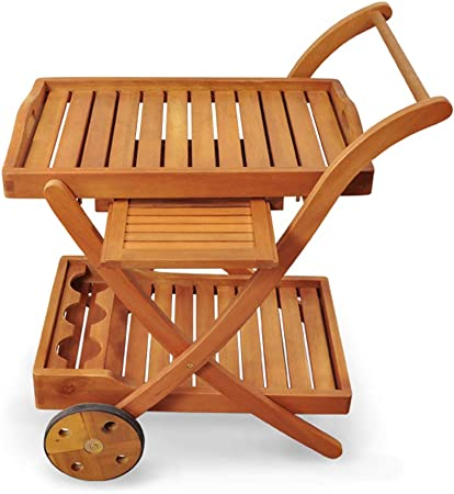 Indoba - Camarera de alta calidad para jardín de madera, para ...
