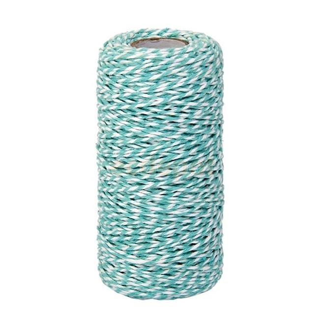 100/metros de algod/ón Bakers Twine Cuerda Botella de cristal caja de regalo Decor Craft azul