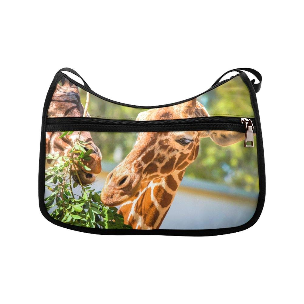 Tall Giraffes Eat Acacia Leaves Messenger Bag Crossbody Bag Large Durable Shoulder School Or Business Bag Oxford Fabric For Mens Womens