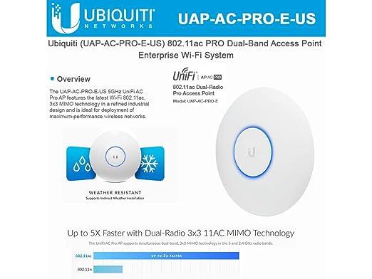 Ubiquiti UniFi AP AC PRO 802 11ac Scalable Enterprise Wi-Fi Access Point  (UAP-AC-PRO-E-US) PoE Adapter Sold Separately