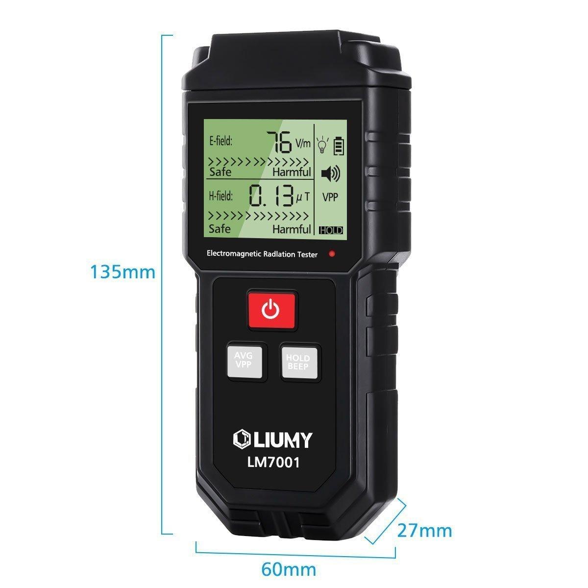 Detector de Radiación de Campo Electromagnético/Medidor EMF,LIUMY Mini LCD Digital Dosímetro de Detector EMF Contador Tester,Detección de Radiación de Campo ...