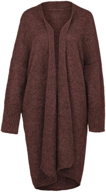 VEFSU Women Button Down Loose Long Sleeve Cardigan Plush Sweater Coat