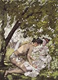 Illustration To The Novel Daphnis And Chloe1 by Konstantin Somov Hand Painted Oil on Canvas Reproduction Wall Art.